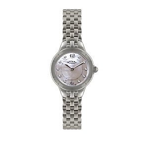 Rotary Ladies' Stone Set Stainless Steel Bracelet Watch - Product number 1394932