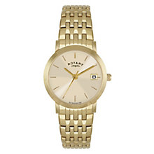 Rotary Ladies' Mother Of Pearl Gold-Plated Bracelet Watch - Product number 1394959