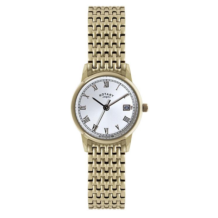 rotary gold plated bracelet h samuel