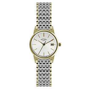 Rotary Ladies' Silver Dial Two Colour Bracelet Watch - Product number 1394991