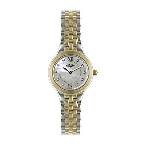 Rotary Ladies' Stone Set Two Colour Bracelet Watch - Product number 1395076