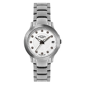 Rotary Ladies' Stone Set Stainless Steel Bracelet Watch - Product number 1395092