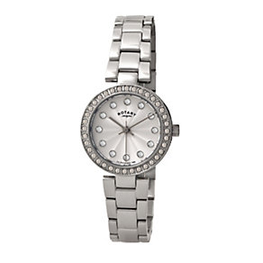 Rotary Ladies' Stone Set Stainless Steel Bracelet Watch - Product number 1395106