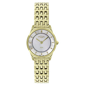 Rotary Ladies' Mother Of Pearl Gold-Plated Bracelet Watch - Product number 1395114