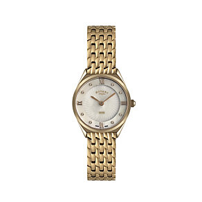 Rotary Ladies' Stone Set Rose Gold-Plated Bracelet Watch - Product number 1395122