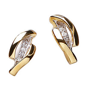 Buckley Two Colour Oval Crystal Earrings - Product number 1395351
