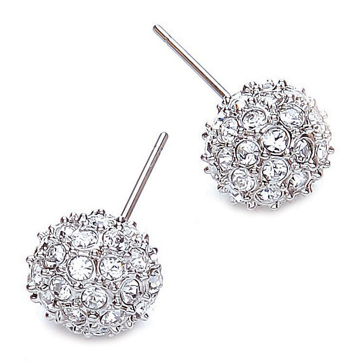 Buckley Crystal Snowball Stud Earrings - Product number 1395440