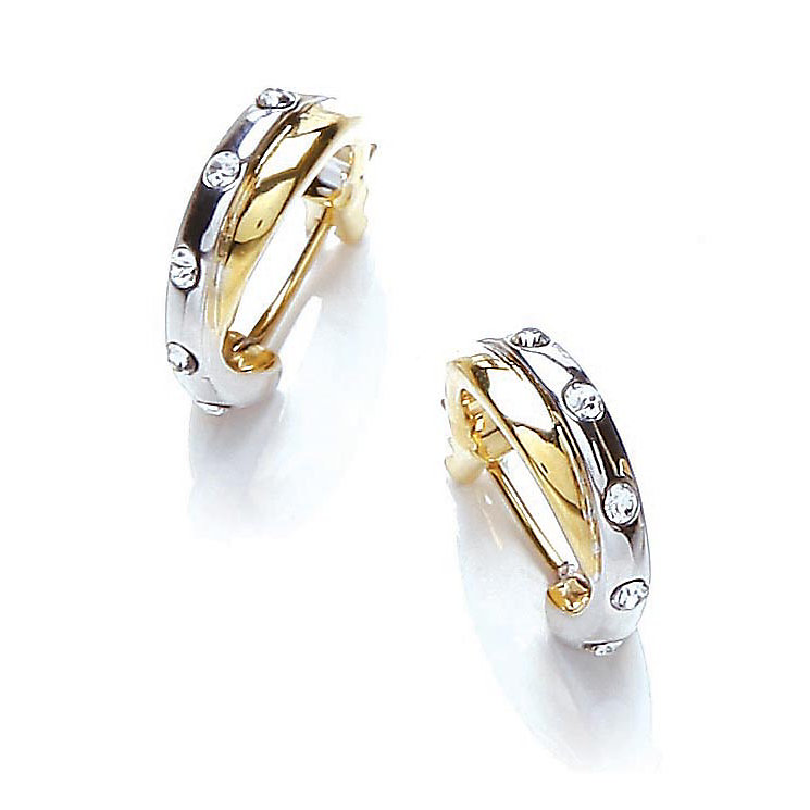 Buckley London Two Colour Crystal Hoop Earrings - Product number 1395475