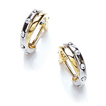 Buckley Two Colour Crystal Hoop Earrings - Product number 1395475