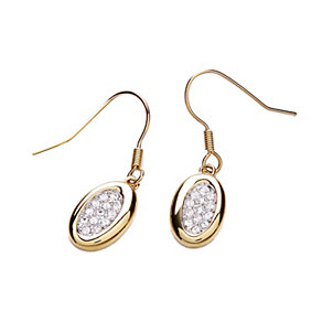 Buckley Oval Crystal Set Drop Earrings - Product number 1395483