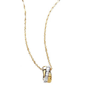Buckley Two Colour Crystal Set Pendant - Product number 1395637