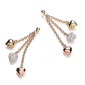 Buckley Crystal Set Tricolour Heart Earrings - Product number 1396102
