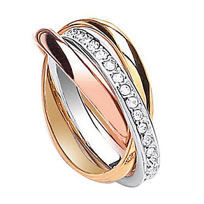 Buckley Three Colour Channel Set Crystal Russian Ring - Product number 1396137