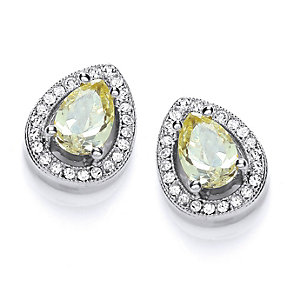Buckley Pear Cut Crystal Stud Earrings - Product number 1396269