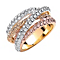 Buckley London Crystal Set Russian Strand Ring - Product number 1396366