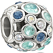 Chamilia Sterling Silver Blue Crystal Set Captivate Bead - Product number 1396854