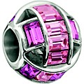 Chamilia Sterling Silver Pink Crystal Set Spellbound Bead - Product number 1396889