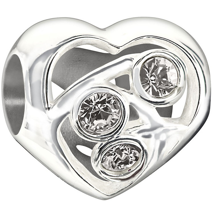 Chamilia Sterling Silver Crystal Set Blooming Love Bead - Product number 1397044