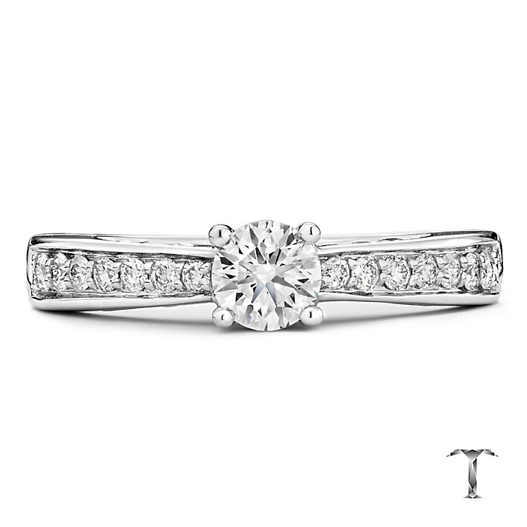 Tolkowsky 18ct white gold 0.66ct I-I1 diamond ring - Product number 1397346