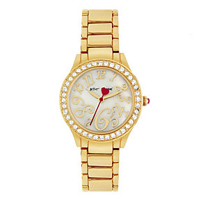 Betsey Johnson Ladies' Gold Tone Bracelet Watch - Product number 1397826