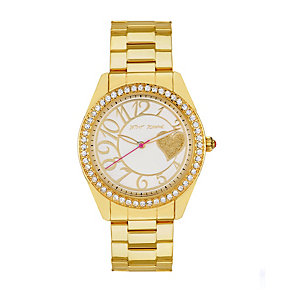 Betsey Johnson Ladies' Gold Tone Bracelet Watch - Product number 1397834