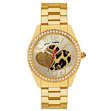 Betsey Johnson Ladies' Gold Tone Bracelet Watch - Product number 1397842