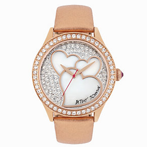 Betsey Johnson Ladies' Rose Gold Tone Strap Watch - Product number 1397907