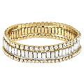 Betsey Johnson Gold Tone Crystal Bracelet Set - Product number 1398296