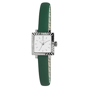 Radley Ladies' Square Dial Green Leather Strap Watch - Product number 1398520
