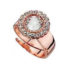 Fiorelli Rose Gold-Plated Small Crystal Cluster Ring - Product number 1399489