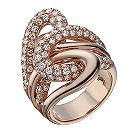 Le Vian 14ct rose gold 2.39 carat diamond knot ring - Product number 1399497