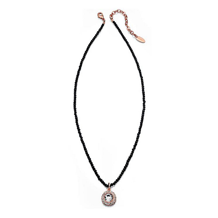 Fiorelli Rose Gold-Plated Black & Clear Crystal Pendant - Product number 1399659