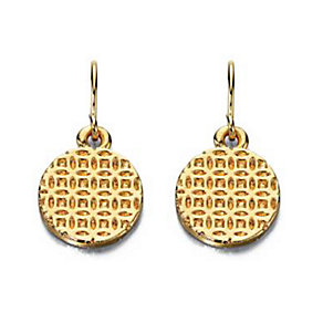 Fiorelli Gold-Plated Textured Disc Earrings - Product number 1400452