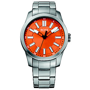 Boss Orange Men's Orange Dial Stainless Steel Bracelet Watch - Product number 1400886
