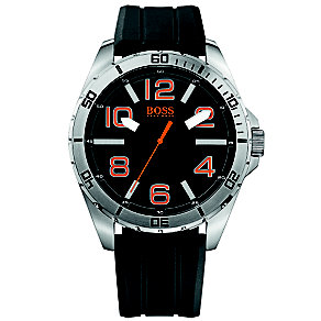 Hugo Boss Orange Men's Black Dial Black Rubber Strap Watch - Product number 1400967
