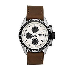 Fossil Decker Men's Brown Leather Strap Watch - Product number 1402072