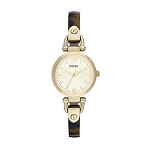 Fossil Georgia Ladies' Tortoiseshell Style Half Bangle Watch - Product number 1402102