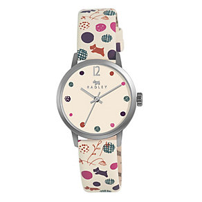 Radley Ladies' Stainless Steel Cream Leather Strap Watch - Product number 1402145