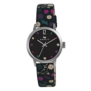 Radley Ladies' Stainless Steel Black Leather Strap Watch - Product number 1402153