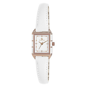 Radley Ladies' Rose Gold-Plated White Leather Strap Watch - Product number 1402188