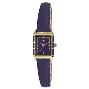 Radley Ladies' Gold-Plated Purple Leather Strap Watch - Product number 1402226