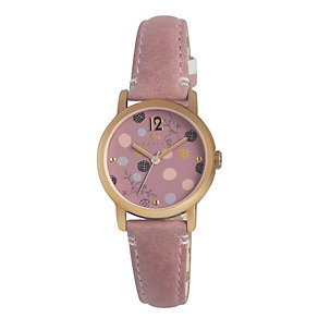 Radley Ladies' Rose Gold-Plated Pink Leather Strap Watch - Product number 1402234