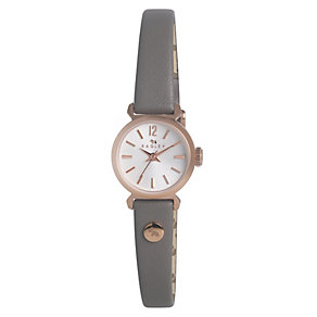 Radley Ladies' Rose Gold-Plated Grey Leather Strap Watch - Product number 1402307