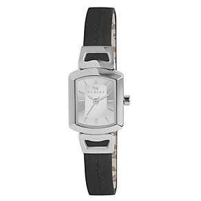 Radley Ladies' Stainless Steel Black Leather Strap Watch - Product number 1402315