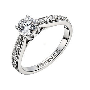 The Forever Diamond 18ct White Gold 1 Carat Solitaire Ring - Product number 1403990