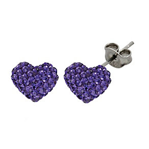 Tresor Paris 8mm purple heart crystal earrings - Product number 1404148