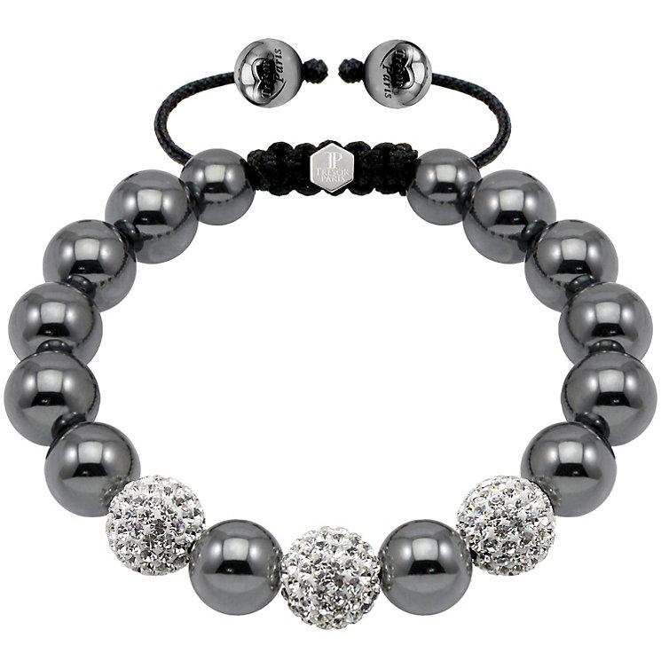 Exclusive Tresor Paris 10mm crystal & magnetite bracelet - Product number 1404334