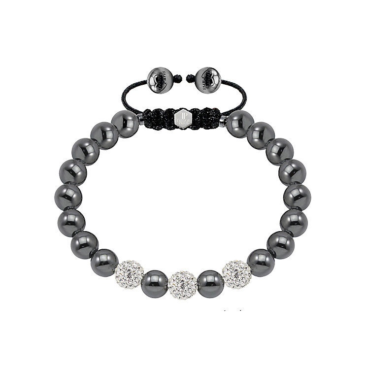 Tresor Paris magnetite steel and crystal ball 8mm bracelet - Product number 1404342