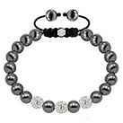 Tresor Paris magnetite steel and crystal ball 8mm bracelet - Product number 1404342