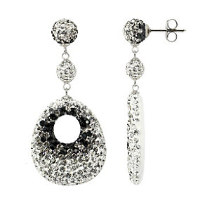 Tresor Paris black and white crystal drop earrings - Product number 1404377